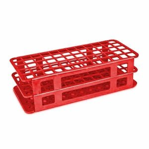 Estante tipo Grade em PP, 60 furos para tubos de 16 mm, Vermelha, Autoclavável, Unidade, mod.: 188081 (Cralplast)