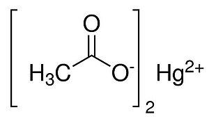 Acetato de Mercúrio II P.A., CAS 1600-27-7, Frasco com 100 gramas, mod.: 00065-DSYS  (Neon)