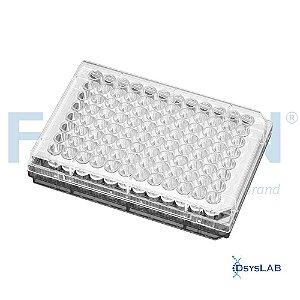 Microplaca de cultura Falcon® de fundo plano, transparente, com 96 poços, com tampa, embalagem individual, estéril, cx 50 unid, mod.: 353072 (Falcon)