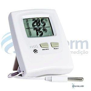 Termohigrômetro digital temperatura e umidade, temperatura interna 0+50ºC, externa -50+70ºC, com cabo, unidade, mod.: 7666 (Incoterm)