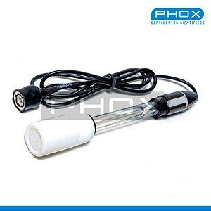 Eletrodo pH em vidro, Conexão BNC, para soluções aquosas, mod.: G10 (Phox)