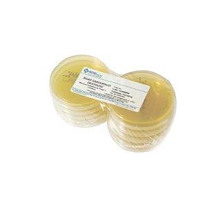 Agar Sabouraud Dextrose, em placa de petri 90x15mm, Pacote com 10 unidades, mod.: PA26 (Newprov)