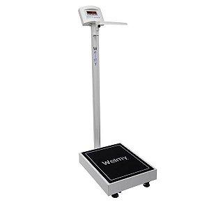 Balança Eletrônica Adulto Plataforma, Branca, Até 300 kg, mod.: W 300 A (Welmy)