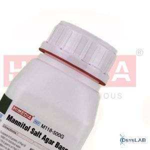 Agar Sal Manitol Base (MSA), Frasco com 500 gramas, mod.: M118-500G (Himedia)