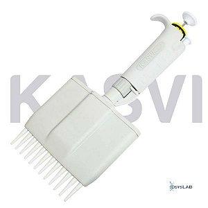 Micropipeta Multicanal Basic 12 Canais de 5 à 50 µl K1-12X50B (Kasvi)