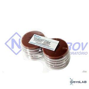 Agar Chocolate Suplementado em Placa de Petri 90x15mm, Pacote com 10 unidades, mod.: PA09 (Newprov)