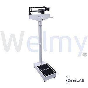 Balança Mecânica Adulta, 150Kg 110CH (Welmy)