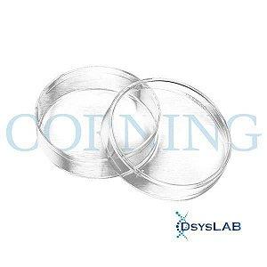 Placa Cultura Celular, 100mm, superfície tratada, estéril, pacote com 10 unidades, mod. 430293-PCT (Corning)