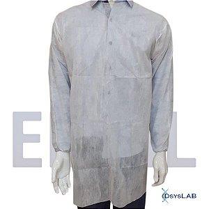 Avental descartável com manga longa, 40 gramas, embalado individualmente 373170004 (Elisil)
