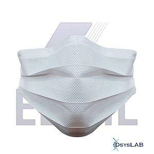 Máscara descartável tripla, soldada e com elástico, caixa com 50 unidades 540010024 (Elisil)