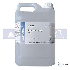 Álcool etílico, solução de 70%, Barrica com 5000 ml, mod.: ALPHA989 (Alphatec)
