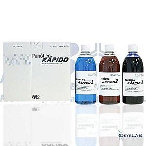 Coloração panótico rápido, kit com 3 frascos de 500 ml cada 620529 (Laborclin)