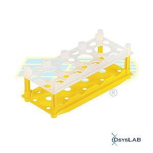 Rack (Estante) para 8 tubos de cultura celular de 10cm2/20cm2, PP, cor amarela, autoclavável, unidade, mod.: 99018 (TPP)
