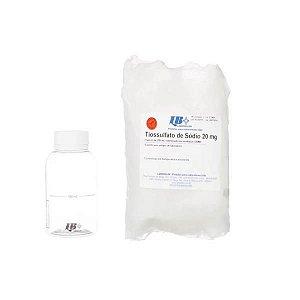 Tiossulfato de sódio 20mg, 200ml, estéril, Pacote com 100 frascos, mod.: 572004 (Laborclin)