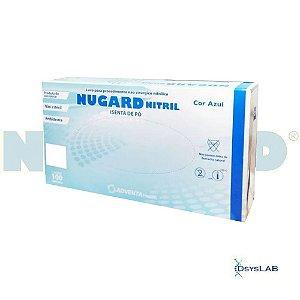 Luva Procedimento Não Cirúrgico, Não Estéril, Nitrilo, Sem Talco, Azul, Pequeno, caixa c/1000 unidades 7898994057765 (Nugard)