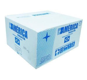 Compressa de Gaze não estéril, tamanho 7,5x7,5cm, 9 fios, caixa com 18000 unidades, mod.: COGA7509F500333-CX (America Medical)