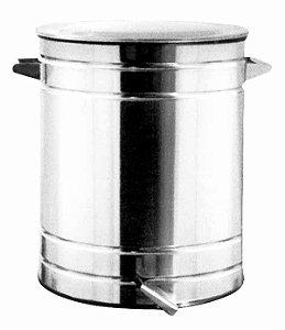Lixeira Inox Polido com Tampa Basculante 47 x 62 cm,  capacidade p/ 100 L (Artinox)