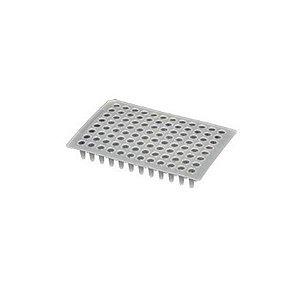 Microplaca de PCR 96 poços, 0,1 mL, sem borda, pacote com 5 unidades, mod.: PCR-96-LP-FLT-C-PCT (Axygen)