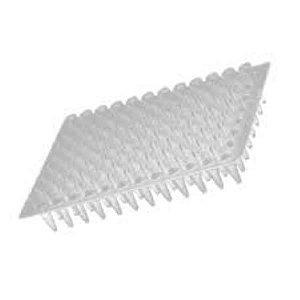 Microplaca de PCR 96 poços, sem borda, poço elevado, pacote com 10 unidades, mod.: PCR-96-C (Axygen)