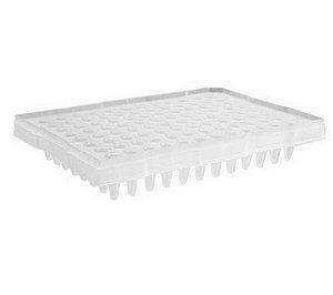 Microplaca de PCR 96 poços, sem borda, poços elevados, pacote com 10 placas, mod.: PCR-96-MB-C-DSY (Axygen)