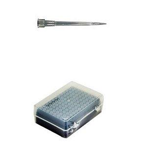 Ponteira 0,5-20 uL, com filtro, PP, longa, estéril, máxima recuperação, rack com 96 unidades, mod.: TF-400-L-R-S-RCK (Axygen)