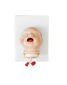 Manequim de cabeça infantil para intubação, mod.: CL-410 (Clone)