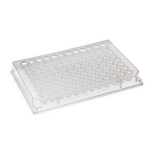 Microplaca Cultivo Celular, 96 poços, Tratamento CellBIND®, fundo chato, com tampa, estéril, caixa com 50 unidades, Mod. 3300 (Corning)
