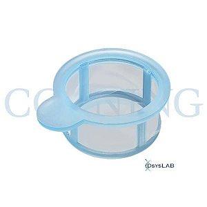 Filtro de célula (Cell Strainer) Corning® 40µm, azul, estéril, embalado individualmente, caixa com 50 unidades, mod. 431750 (Corning)
