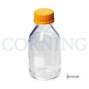 Frasco reagente de vidro, tampa em polipropileno com conexão GL45, capacidade de 250 ml, Caixa com 10 unidades, mod.: 1395-250 (Pyrex)