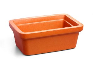 Recipiente retangular midi para gelo, 4 litros, laranja mod.: 432106 (Corning)