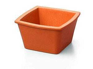 Recipiente quadrado mini para gelo, 1 litro, laranja, mod.: 432118 (Corning)