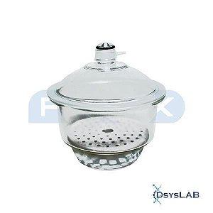 Dessecador com tampa e luva para vácuo Disco furos pequenos de 210 mm (D), unidade (Phox)