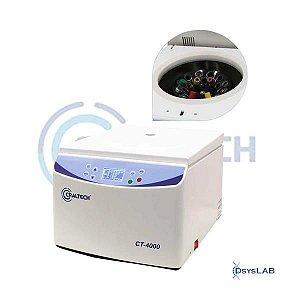 Centrífuga de bancada para 24 tubos de 10 a 15ml, 4000rpm, 110VCT-4000-110V (Craltech)