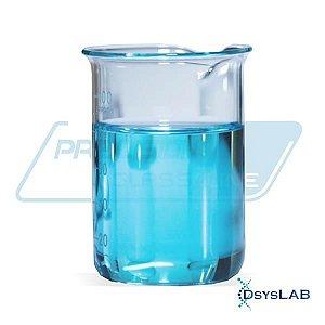 Copo béquer forma alta em borossilicato, capacidade de 50 ml, caixa com 12 unidades BEFA50 (Precision)