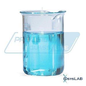 Copo béquer forma baixa em borossilicato, capacidade de 500 ml, caixa com 8 unidades BEFB500 (Precision)