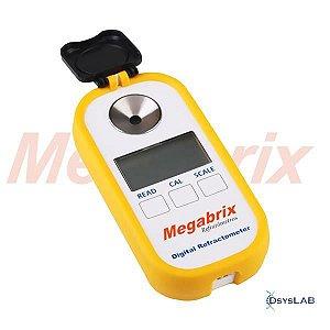 Refratômetro digital portátil para mel, brix 0.0-90.0%, água 38.0-5.0%, Beº 33.0-48.0, índice de refração 1.3330-1.5177nDREDI-P-301 (Megabrix)