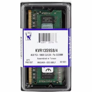 Memória Notebook 4GB DDR3 1333MHZ / PC3 10600 204 Pinos Kingston