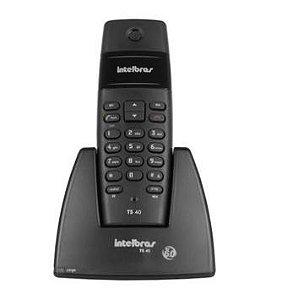Telefone Intelbras sem Fio TS40 6.0 Preto