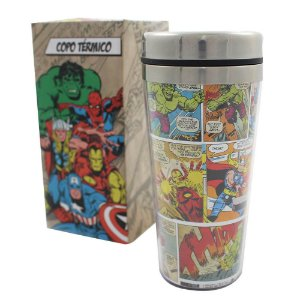COPO VIAGEM TÉRMICO HQ COLOR - MARVEL COMICS - 450ML