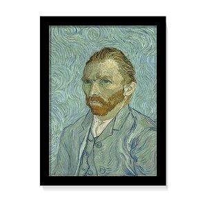 Quadro Decorativo Van Gogh Auto Retrato 1889 Obra C/ Vidro