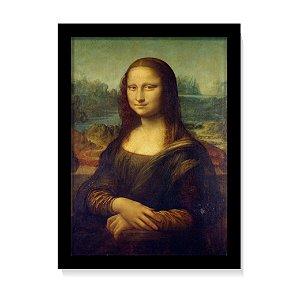 Quadro Decorativo Da Vinci Pintura Monalisa 1503