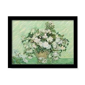 Quadro Vaso com Rosas cor-de-rosa Van Gogh Obra