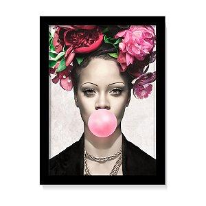 Quadro Decorativo Rihanna Rosas Art Poster