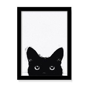 Quadro Animal Gato Preto Elegante