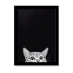 Quadro Decorativo Gato Fofo