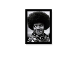 Quadro Michael Jackson Black Power P&B