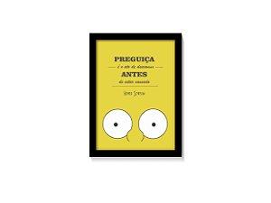 Quadro Homer Simpsons - Preguiça