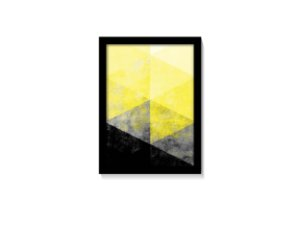 Quadro Geométrico Amarelo & Preto