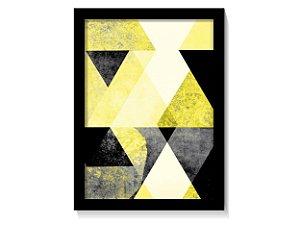 Quadro Geométrico Tons Amarelo & Preto