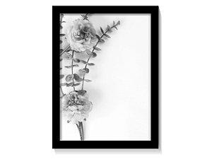 Quadro Ramo de Flores Tons de Cinza